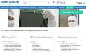 Onlineshop Monitor-Bauteile - CCFL, Backlight-Kits, LC-Reparatur etc.