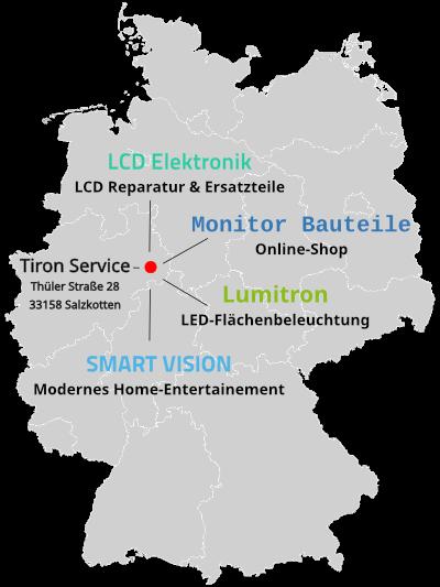LCD Elektronik - Reparatur und Ersatzteile - Tiron Service in Paderborn-Salzkotten